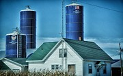 Silos Mixed Media Posters - Wisconsin Farm 2 Poster by Todd and candice Dailey
