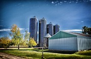 Silos Mixed Media Posters - Wisconsin Farm 3 Poster by Todd and candice Dailey