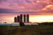 Silos Mixed Media Posters - Wisconsin Farm 9 Poster by Todd and candice Dailey