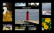 Green Bay Prints - Wisconsin For All Seasons Print by Kay Novy