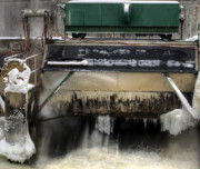 Fox River Prints - Wisconsin Winter Power Print by Thomas Young