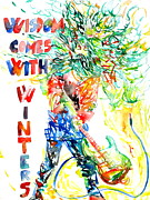 Quotation Painting Prints - Wisdom Comes With Winters Print by Fabrizio Cassetta