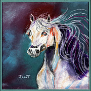 Fanciful Pastels Metal Prints - Wisdom The Horse Metal Print by Diana Tripp
