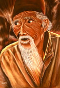 Wise Old Man Paintings - Wise Man by Mary Ladas