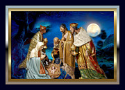 Nativity Digital Art - Wise Men Still Seek Him 3 by Karen Showell