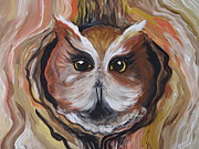Owl Greeting Card Prints - Wise Ole Owl Print by Leslie Manley