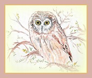Cathy Turner - Wise owl sitting in the...