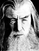 Lord Of The Rings Drawings Posters - Wise Wizard Poster by Kayleigh Semeniuk