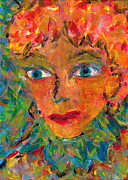 Wise Woman Framed Prints - Wise woman impressionism painting Framed Print by Luciana Raducanu