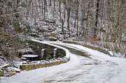 Fairmount Park Prints - Wises Mill Road and Forbidden Drive in the Snow Print by Bill Cannon