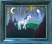 Zebra Paintings - Wish Upon a Star by Yvonne  Kroupa