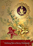Christmas Greeting Mixed Media - Wishing you a Merry Christmas by Gerlinde Keating - Keating Associates Inc