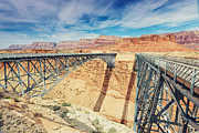 Bitter Prints - Wispy Clouds Over Navajo Bridge North Rim Grand Canyon Colorado River Print by Silvio Ligutti