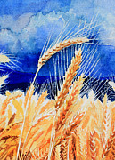 Portugal Art Paintings - Wispy Wheatfield 1 by Hanne Lore Koehler