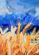 Residential Paintings - Wispy Wheatfield 2 by Hanne Lore Koehler