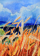 Portugal Art Paintings - Wispy Wheatfield 4 by Hanne Lore Koehler