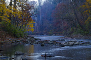 Fairmount Park Prints - Wissahickon Creek in the Fall Print by Bill Cannon