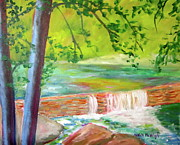 Scenic Drive Paintings - Wissahickon by Marita McVeigh