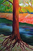 Philly Paintings - Wissahickon Roots by Marita McVeigh