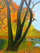 Philadelphia Painting Prints - Wissahickon Story Print by Marita McVeigh
