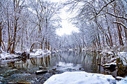 Wintery Digital Art Prints - Wissahickon Winter Wonderland Print by Bill Cannon