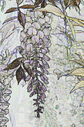 Christiane Schulze Posters - Wisteria Abstract Poster by Christiane Schulze