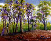 Wisteria In Louisiana Trees Print by Lenora  De Lude