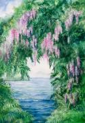 Ferns Paintings - Wisteria by Michelle Wiarda