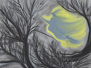 Branches Pastels Prints - Witch Wood by jrr Print by First Star Art