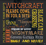Text Words Posters - Witchcraft Poster by Debbie DeWitt