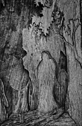 Carvings Posters - Witches In Woods  Poster by Jerry Cordeiro