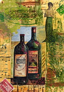 Wine Vineyard Mixed Media Prints - With all my Heart Print by Tamyra Crossley