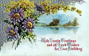 Hearty Paintings - With Hearty Greetings On Your Birthday by Olde Time  Mercantile