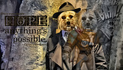 Dog Rescue Digital Art - With Hope Anything Is Possible 1 by Kathy Tarochione