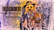 Dog Rescue Digital Art - With Hope Anything Is Possible 3 by Kathy Tarochione