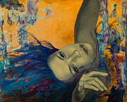Live Art Painting Prints - Within Temptation Print by Dorina  Costras