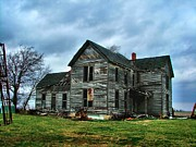 Old Abandoned Houses Photos - Withstanding Another Spring Storm  by Julie Dant