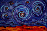 Macrocosm Painting Framed Prints - Witness Framed Print by Kathleen Peltomaa Lewis