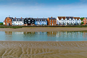 River View Photo Metal Prints - Wivenhoe waterfront Metal Print by Gary Eason