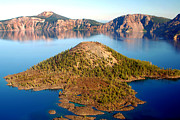 Mount Mazama Posters - Wizard Island - Crater Lake Poster by Douglas Taylor