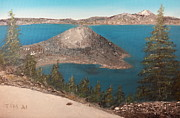 Crater Lake Paintings - Wizard Island - Crater Lake by Tim Ai