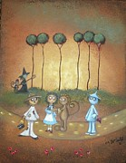 Storybook Framed Prints - Wizard of Oz Art - Surrender Dorothy Framed Print by Charlene Zatloukal