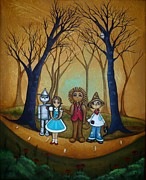 Cowardly Lion Posters - Wizard of Oz - If I Only Poster by Charlene Murray Zatloukal