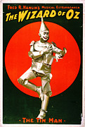 Color Lithographs Photo Acrylic Prints - Wizard of Oz - Tin Man 1903 Acrylic Print by Padre Art
