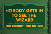 Wizard Sign Print by Bill Jonas