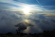 Crater Lake Sunset Photos - Wizard Sunburst by Adam Jewell