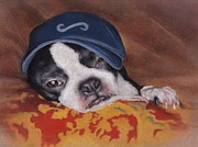 Terriers Pastels - Woe is Me by Pamela Humbargar