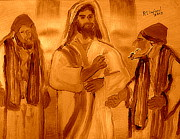 New Testament Painting Originals - Woe unto Ye Scribes and Pharisees Hypocrites 2 by Richard W Linford