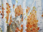 Wolf Call Print by Ellen Levinson