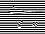 Abstract Digital Art - Wolf optical illusion by Pixel  Chimp